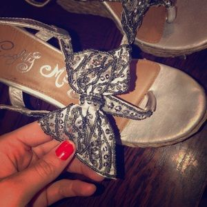 Shoes - Naughty monkey woven wedges